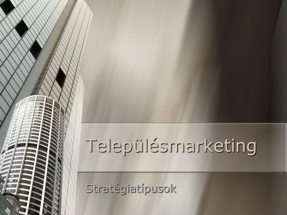 Településmarketing Stratégiatípusok