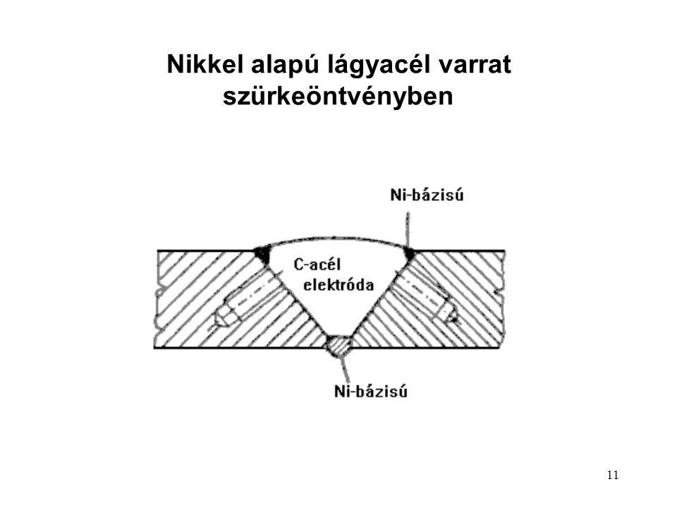 11 Nikkel alapú lágyacél varrat szürkeöntvényben