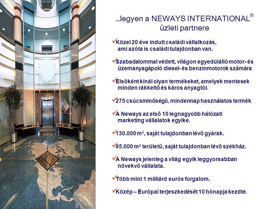 …legyen a NEWAYS INTERNATIONAL ® üzleti partnere Közel 20 éve indult családi vállalkozás, ami azóta is családi tulajdonban van. Szabadalommal védett,