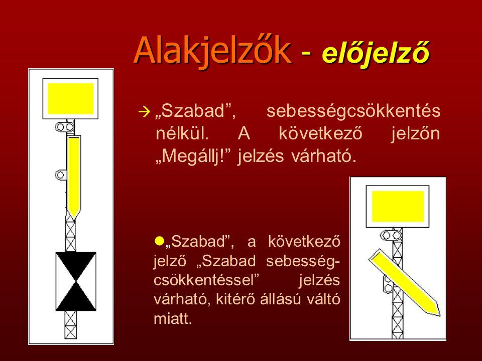 Alakjelzők - Kijárati jelző előjelzője à Szabad , sebességcsökkentés nélkül.