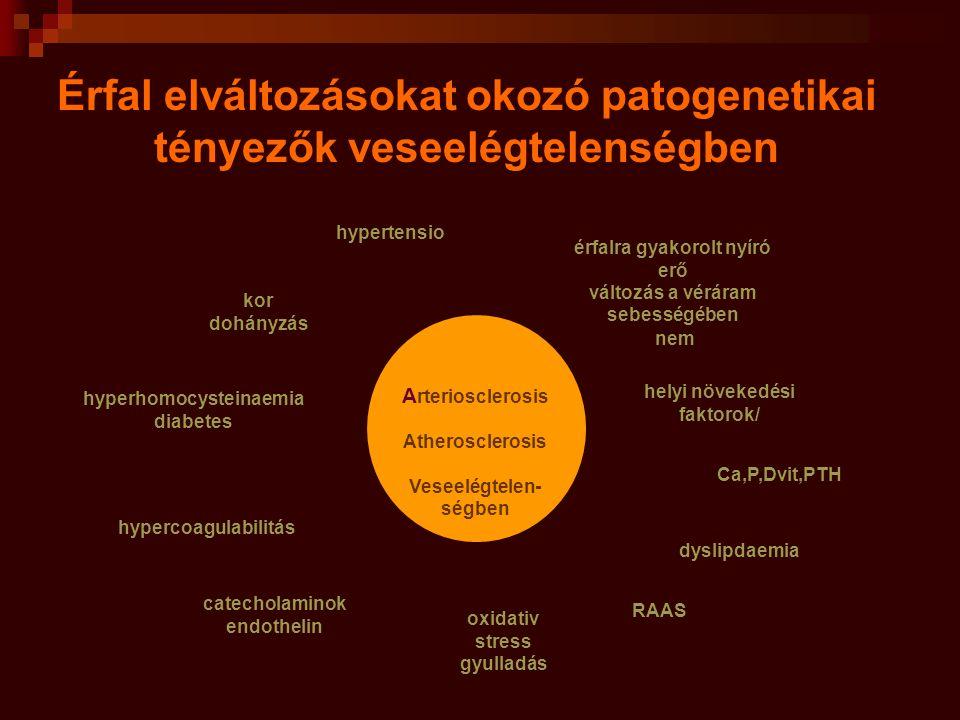 Artériafal fokozott merevség klinikai megnyilvánulása: emelkedett pulzus nyomás - sRR  - dRR  Patofizikai következmények: - sRR  : nyomás terhelés , miokardium O 2 fogyasztás  ; - dRR  : koronaria perfuzió, véreloszlás 