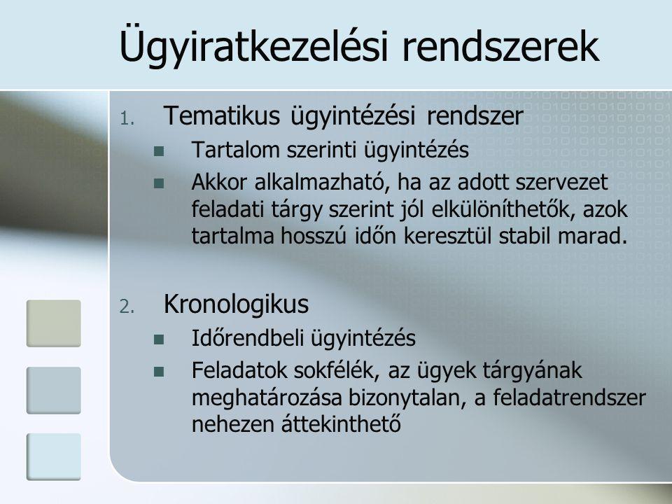 Ügyiratkezelési rendszerek 1.