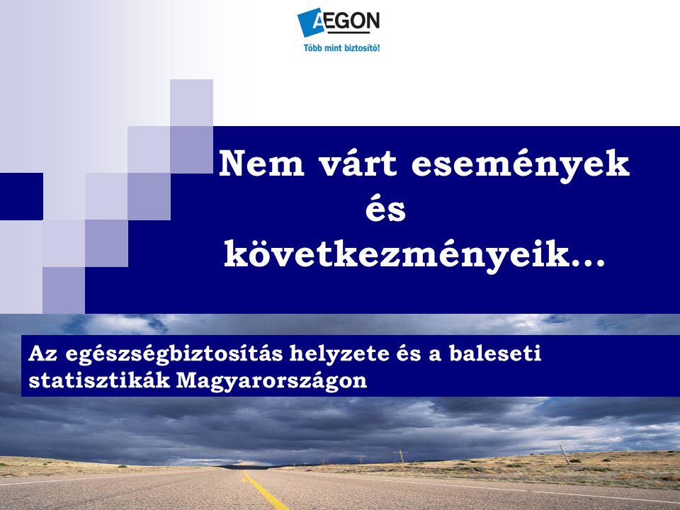 Nem várt események és következményeik… Az egészségbiztosítás helyzete és a baleseti statisztikák Magyarországon