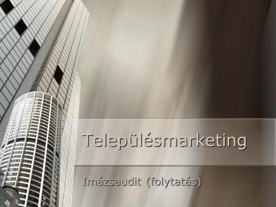 Településmarketing Imázsaudit (folytatás)