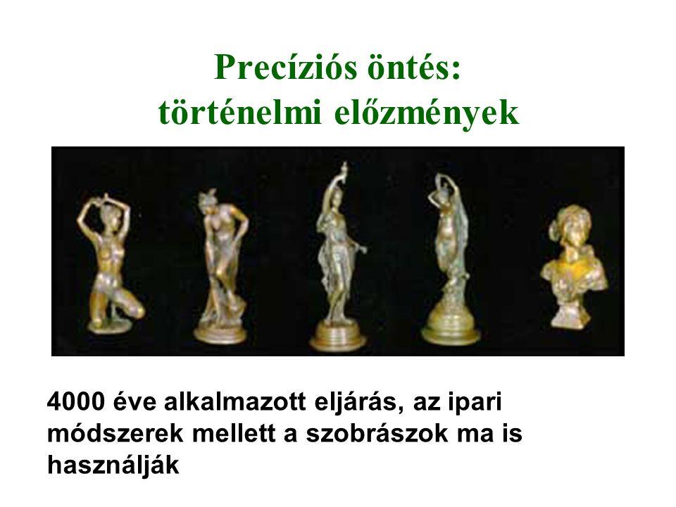 Precíziós öntés: történelmi előzmények 4000 éve alkalmazott eljárás, az ipari módszerek mellett a szobrászok ma is használják