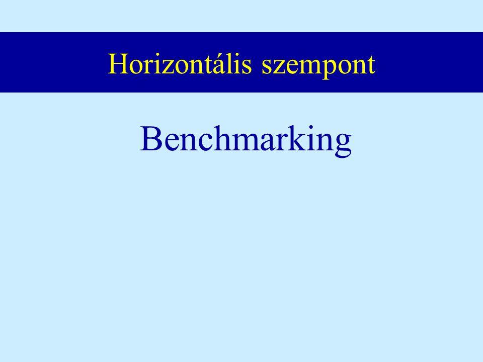 Horizontális szempont Benchmarking