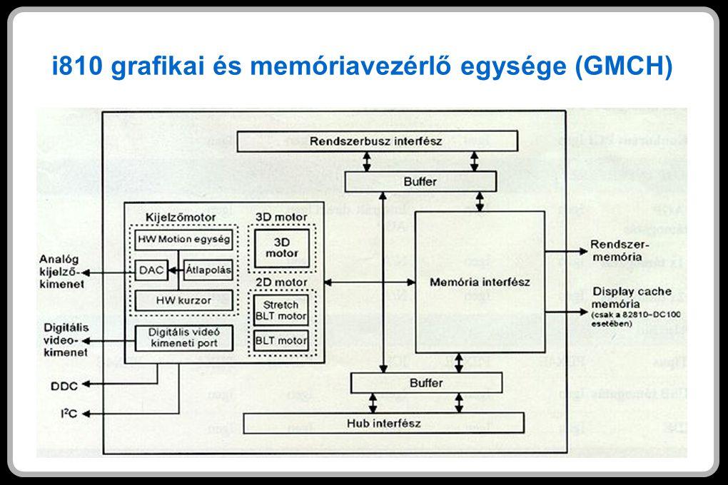 i810 grafikai és memóriavezérlő egysége (GMCH)