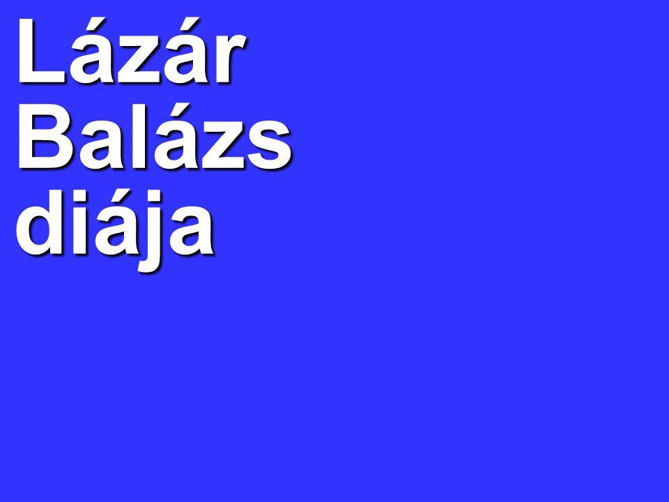 Lázár Balázs diája
