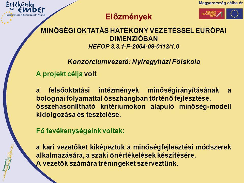 Akkreditációs követelmények A Magyar Felsőoktatási Akkreditációs Bizottság: figyelemmel kíséri az ágazati minőségfejlesztési rendszer harmonizációját az Európai Felsőoktatási Térség felsőoktatási rendszereivel szakértői véleményt ad az alap- és mesterképzés indításáról, a doktori iskola létesítéséről, doktori képzés indításáról és a doktori szabályzatról közreműködik a felsőoktatásban folyó oktatási, tudományos kutatási, művészeti alkotótevékenység értékelésében a felsőoktatás fejlesztésével összefüggő tervek elkészítésében.