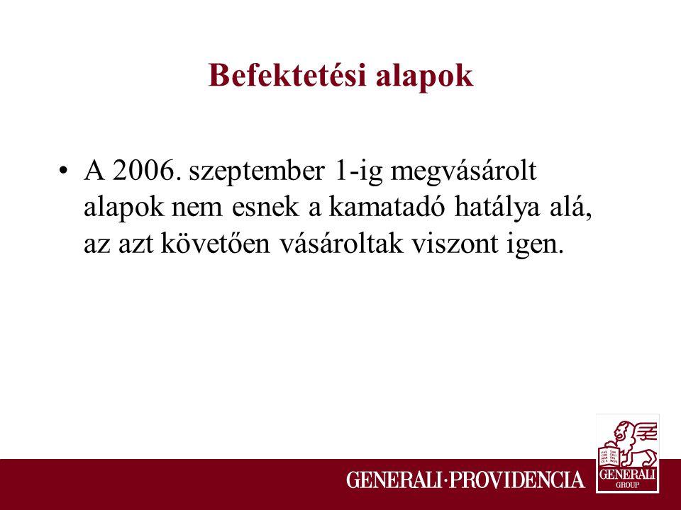 Befektetési alapok A 2006.