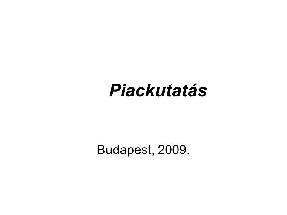 Piackutatás Budapest, 2009.