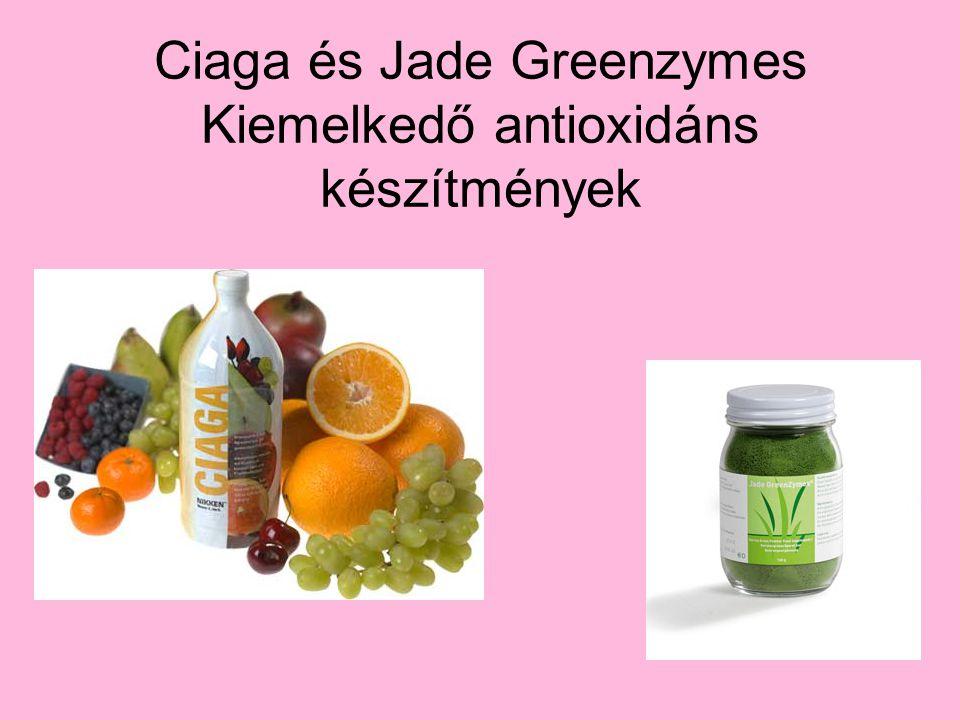 Ciaga és Jade Greenzymes Kiemelkedő antioxidáns készítmények