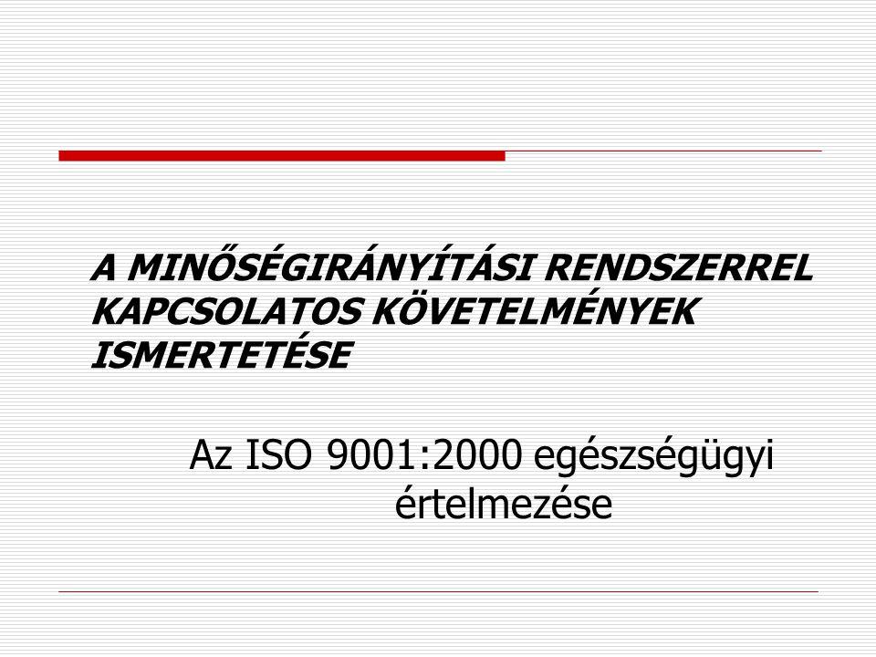 Tanúsítás folyamata  Tanúsító testület kiválasztása - dokumentum felülvizsgálat ( kézikönyv, célok, minőségtervek) - felülvizsgálati program elkészít