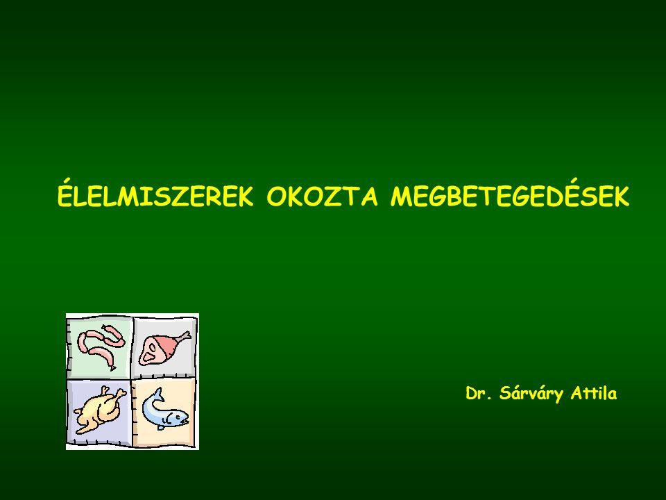 ÉLELMISZEREK OKOZTA MEGBETEGEDÉSEK Dr. Sárváry Attila