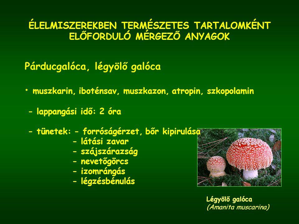 ÉLELMISZEREKBEN TERMÉSZETES TARTALOMKÉNT ELŐFORDULÓ MÉRGEZŐ ANYAGOK cianidok - csonthéjas gyümölcsök magja (sárgabarack, mandula, őszibarack, szilva, alma, cseresznye) Őszibarack (Prunus persica )