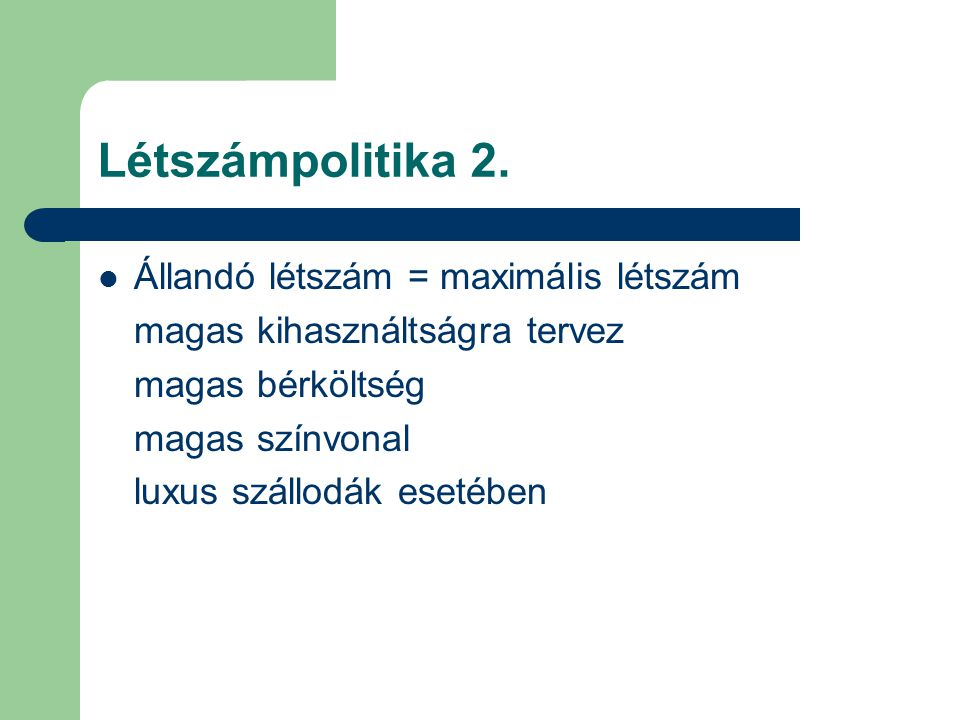 Létszámpolitika 3.