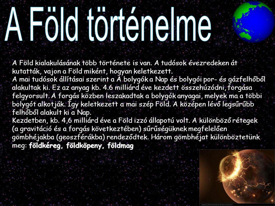 A Föld kialakulásának több története is van. A tudósok évezredeken át kutatták, vajon a Föld miként, hogyan keletkezett. A mai tudósok állításai szeri