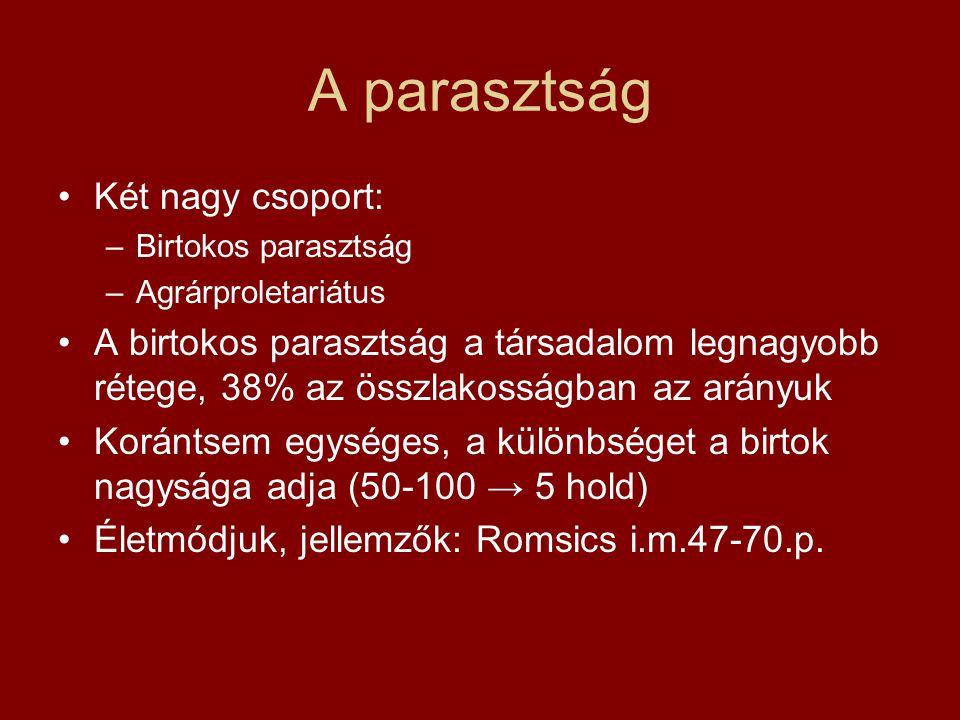 További differenciálódás A társadalmi rétegződés szempontjából nagyon differenciált magyar lakosság körében még további sokszínűség: Soknemzetiségű ország: a történelmi Mo.