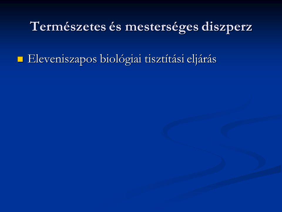 Természetes és mesterséges diszperz Eleveniszapos biológiai tisztítási eljárás Eleveniszapos biológiai tisztítási eljárás