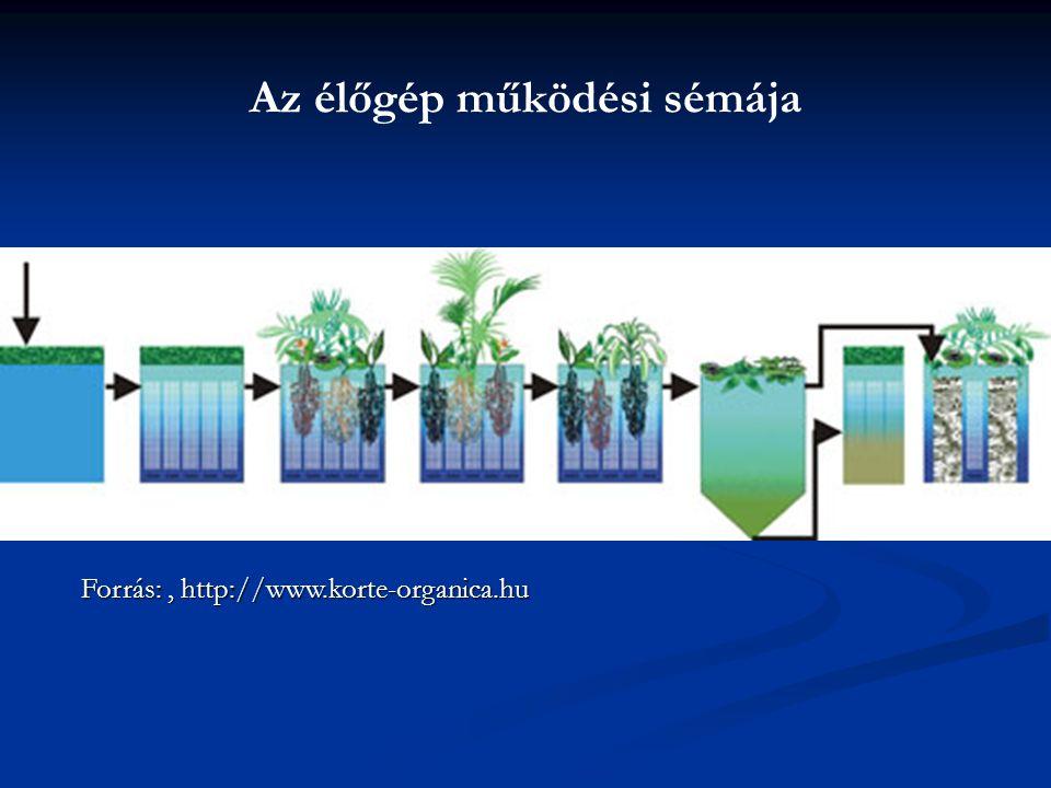 Az élőgép működési sémája Forrás:, http://www.korte-organica.hu