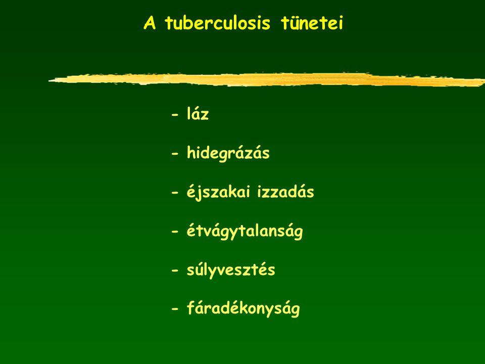 A tuberculosis tünetei - láz - hidegrázás - éjszakai izzadás - étvágytalanság - súlyvesztés - fáradékonyság