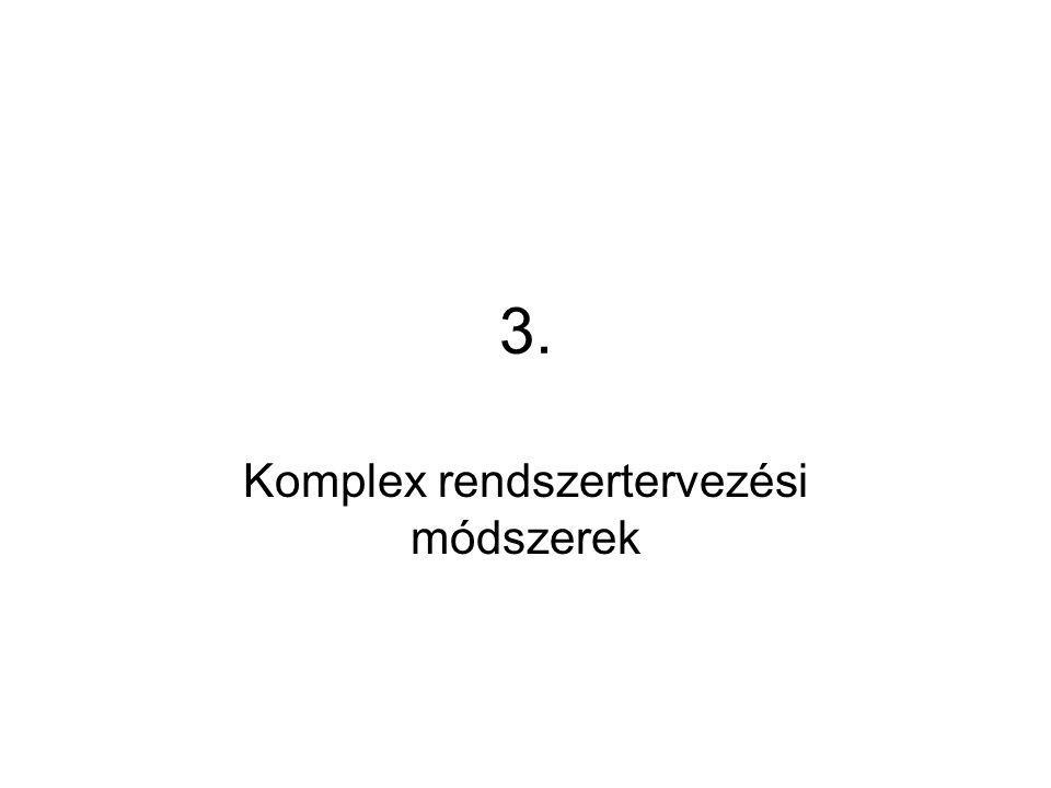 3. Komplex rendszertervezési módszerek
