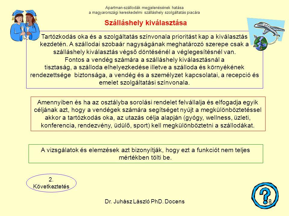 Dr. Juhász László PhD. Docens18 Amennyiben és ha az osztályba sorolási rendelet felvállalja és elfogadja egyik céljának azt, hogy a vendégek számára s