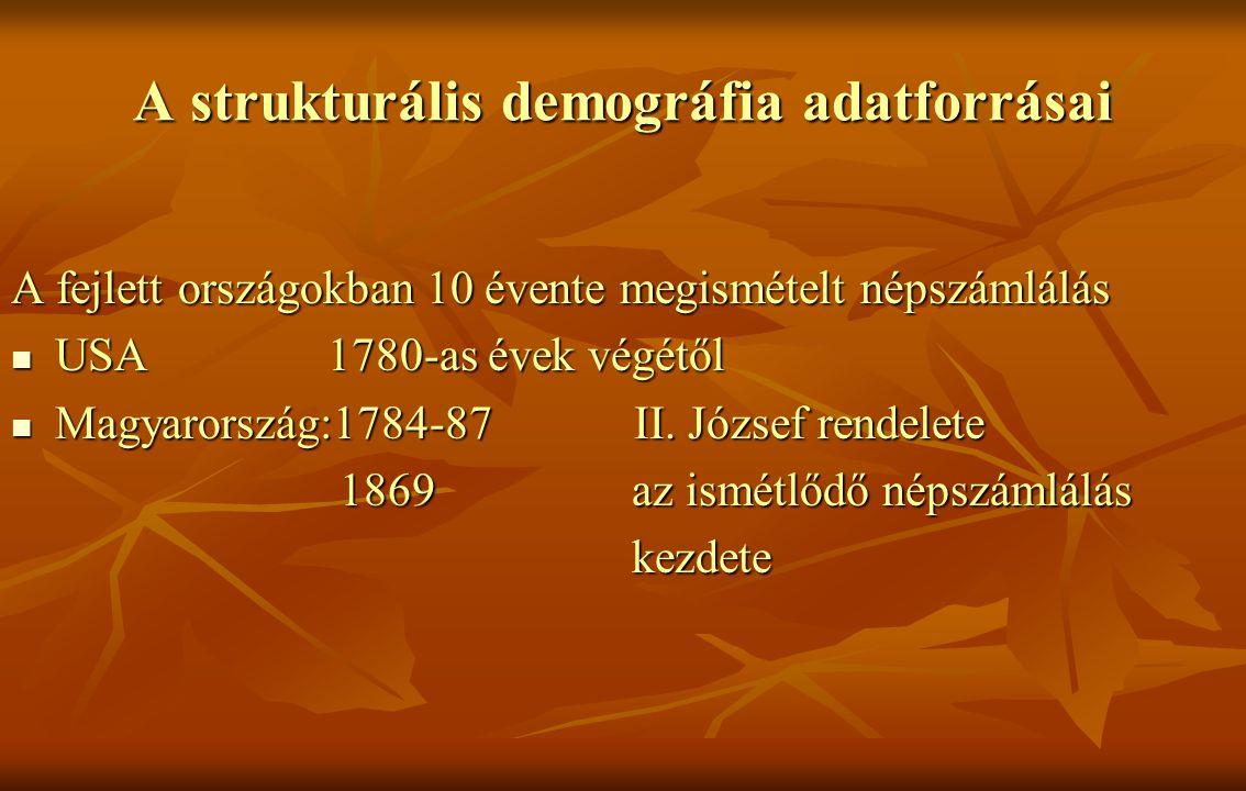 A népszámlálás jellemzői Eszmei időpontra vonatkozik (jan.01.