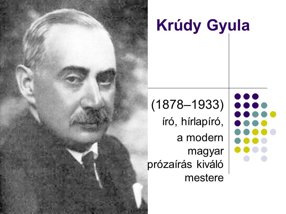 Krúdy Gyula (1878–1933) író, hírlapíró, a modern magyar prózaírás kiváló mestere