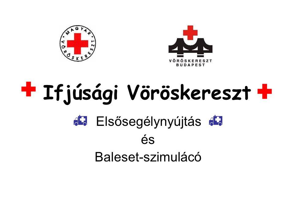 Ifjúsági Vöröskereszt  Elsősegélynyújtás  és Baleset-szimulácó