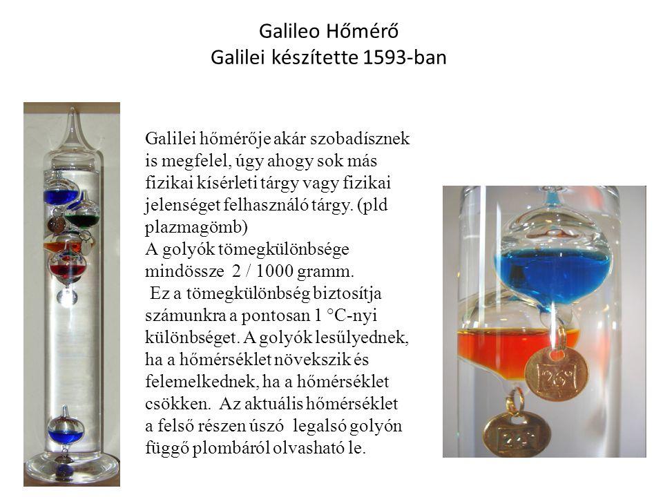 Galilei hőmérője akár szobadísznek is megfelel, úgy ahogy sok más fizikai kísérleti tárgy vagy fizikai jelenséget felhasználó tárgy. (pld plazmagömb)