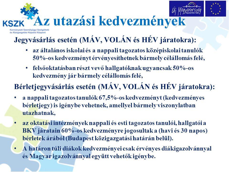 A nem magyar nemzetiségű, de magyar nyelven, vagy magyar kultúrát tanuló tanulókra, hallgatókra vonatkozó kedvezményes szabályok A magyar igazolványra jogosultak mellett kérelmezhetik a diákkedvezményre való jogosultság megállapítását azok is: akik a szomszédos állam alap vagy középfokú oktatási intézményben tanulói jogviszonyban állnak, magyar nyelven tanulnak azok a hallgatók, akik a szomszédos állam felsőoktatási intézményében magyar nyelven, vagy a magyar kultúra tárgyában tanulmányokat folytatnak.