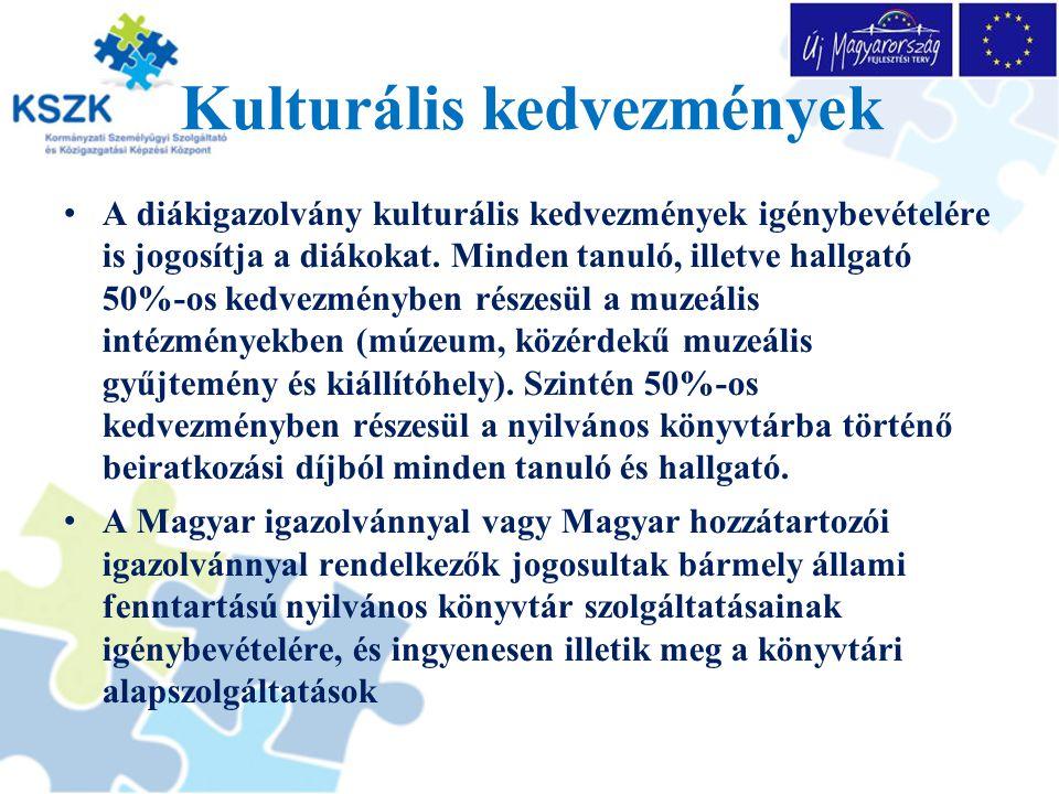 A diákkedvezmény igazolása a magyar igazolványban Diákkedvezmények Tájékoztató A 2001.