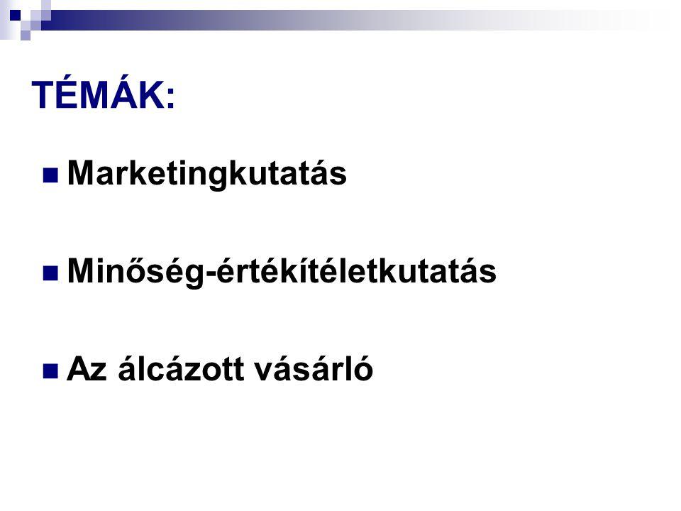 Marketingkutatás szakmai sajátosságai