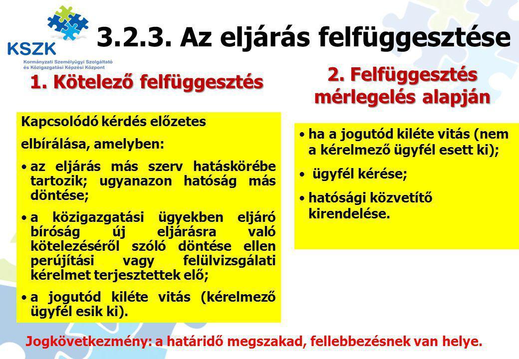 21 1.Kötelező felfüggesztés 2.