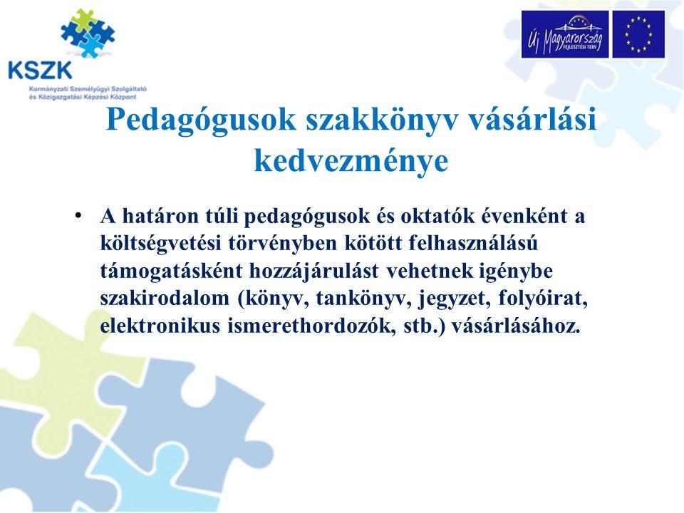 A pedagógus és oktatói kedvezmény igénylésének szabályai A jogosultságról az Oktatási Hivatal dönt.