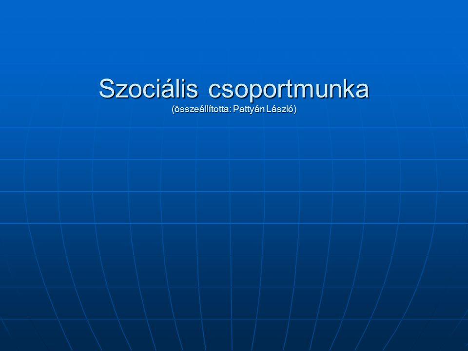 Felmérés a csoportban – csoport, mint egész A csoport kommunikációs, interakciós mintái A csoport kommunikációs, interakciós mintái Csoportkohézió Csoportkohézió Szociális kontroll Szociális kontroll Csoportkultúra Csoportkultúra