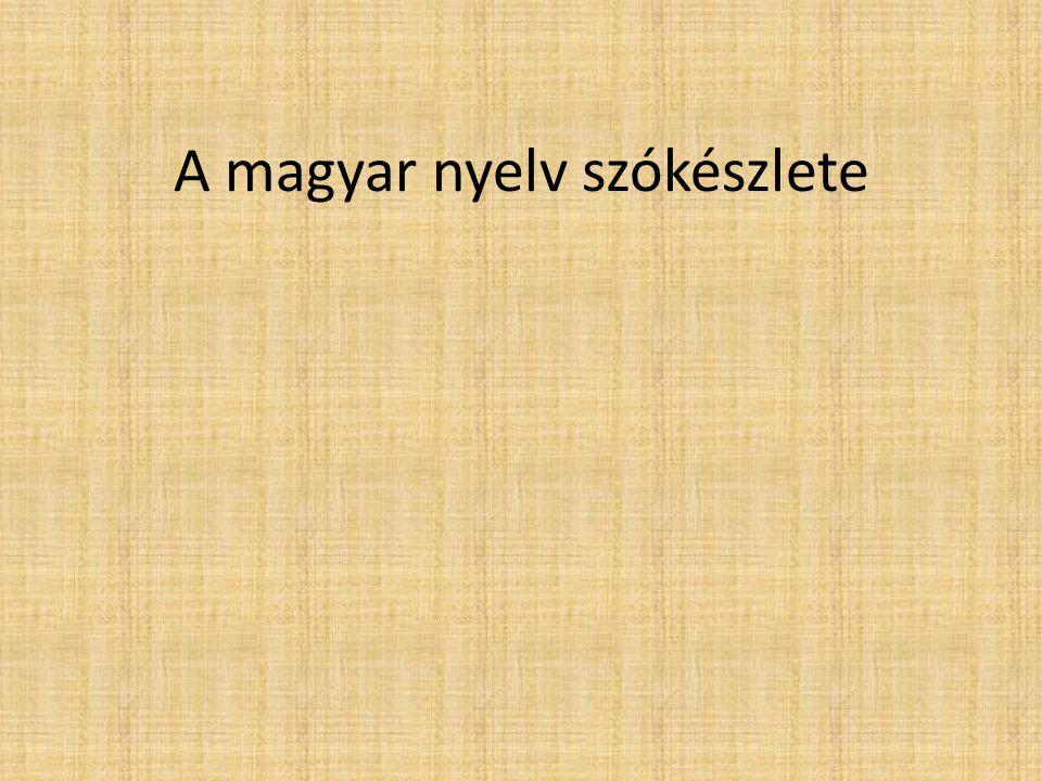 Főbb részek 1.Bevezetés 2.Ősi örökség: az alapnyelv -Uráli kor -Finnugor kor -Ugor kor 3.