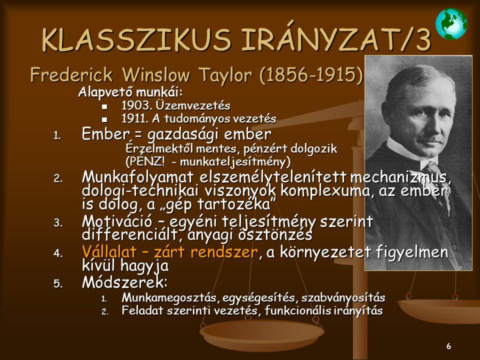 27 INTEGRÁCIÓS SZEMLÉLETŰ IRÁNYZAT/3 3.