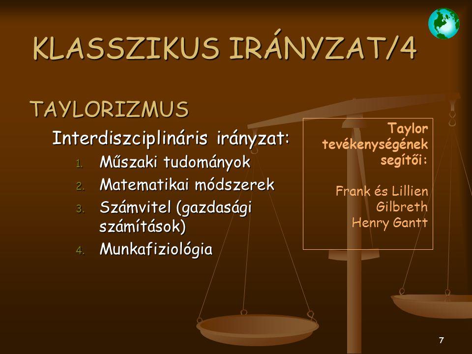 """18 EMBERKÖZPONTÚ IRÁNYZAT/2 """"MAYOIZMUS eredményei: 1."""
