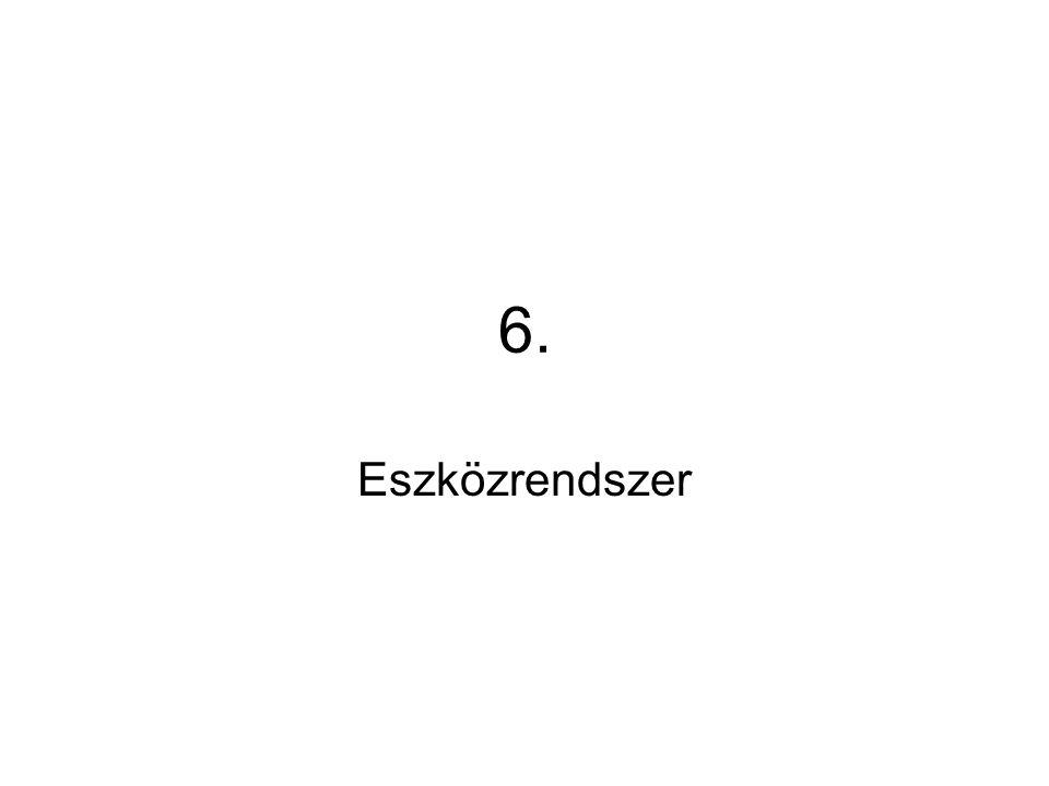 6. Eszközrendszer