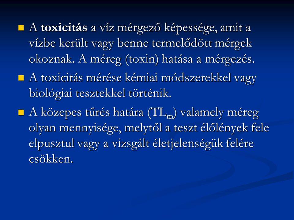 A toxicitás a víz mérgező képessége, amit a vízbe került vagy benne termelődött mérgek okoznak. A méreg (toxin) hatása a mérgezés. A toxicitás a víz m