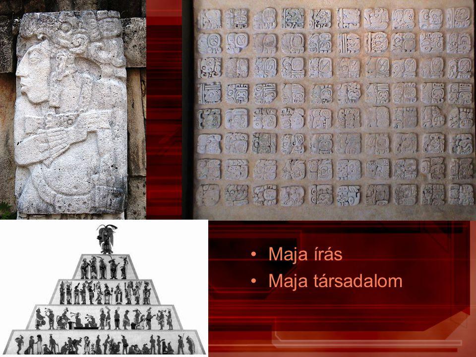 Maja írás Maja társadalom