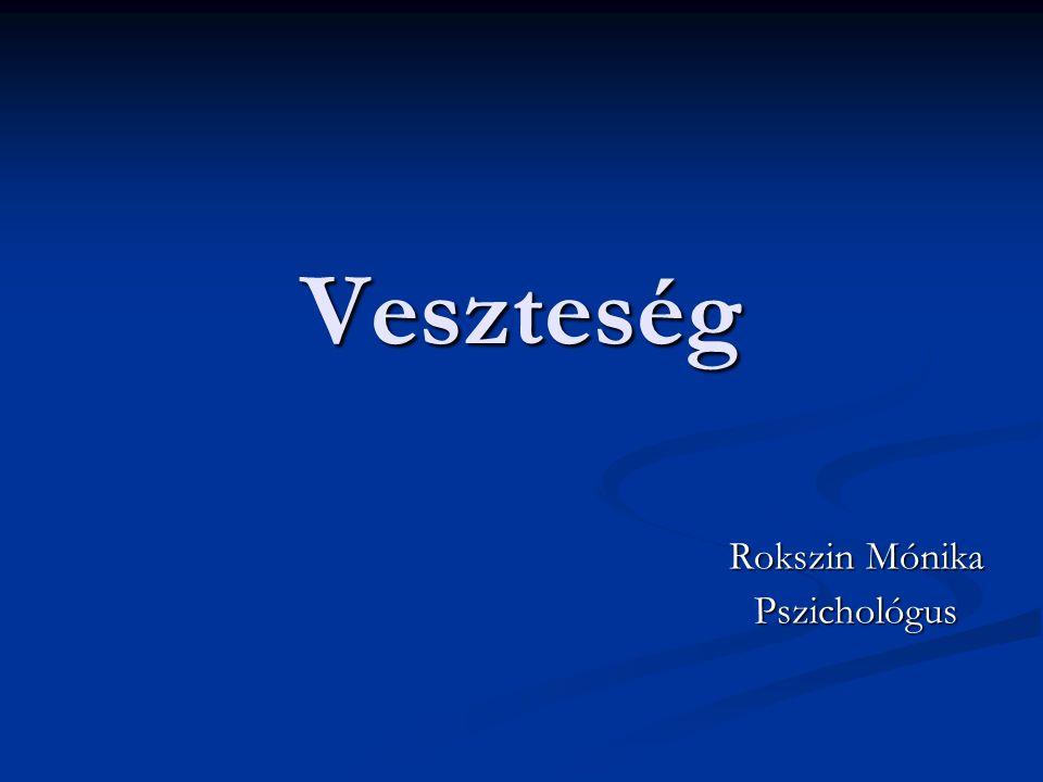 Veszteség Rokszin Mónika Pszichológus