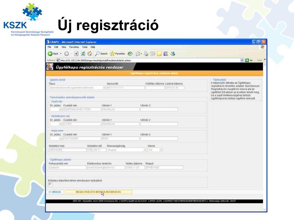 Új regisztráció