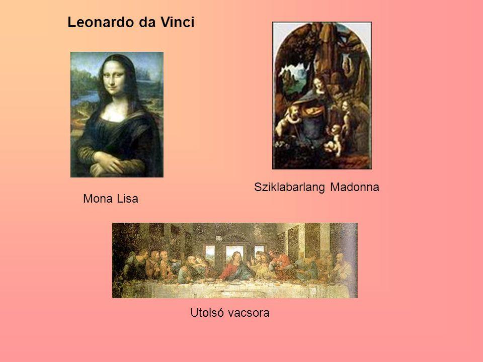 Leonardo da Vinci Mona Lisa Sziklabarlang Madonna Utolsó vacsora