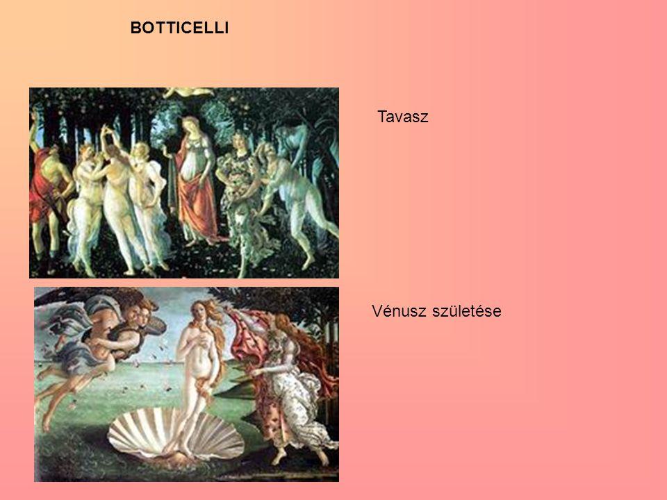 Tavasz Vénusz születése BOTTICELLI