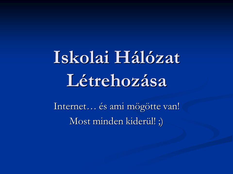 Iskolai Hálózat Létrehozása Internet… és ami mögötte van! Most minden kiderül! ;)