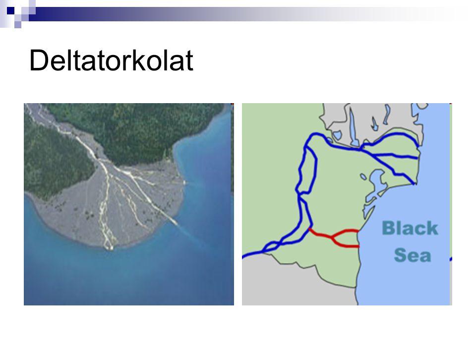FELTÖLTŐ (ALSÓ) SZAKASZ A kis lejtésű területen a folyó munkavégzése nem elegendő a hordalék elszállításához, ezért lerakja és zátonyokat, hordalékkúpokat, szigeteket épít.
