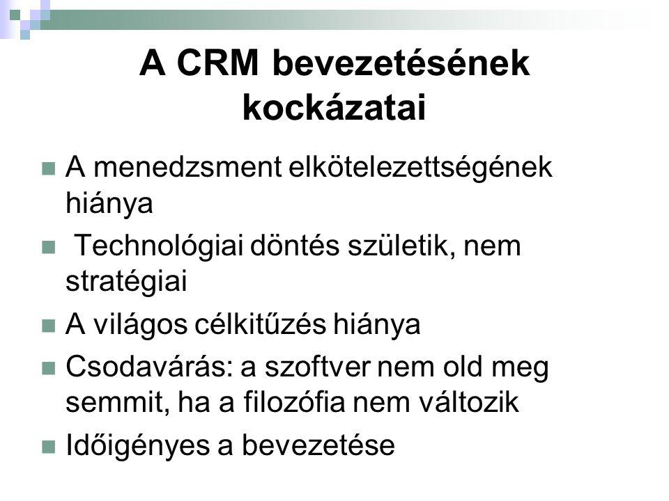 """A CRM alkalmazási lehetőségei Alapja a cégméret és az ügyfélszám Kisebb cégeknél elsősorban a """"gondolatiságot valósítják meg, a szoftver alkalmazása nem alapfeltétel Nagy cég magas vevőszámmal optimális a CRM teljes körű megvalósítására"""